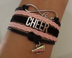 Cheer bracelet love infinity cheer bracelet by SummerWishes