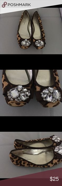 Jessica Simpson flats Leopard prints. Excellent condition Jessica Simpson Shoes Flats & Loafers