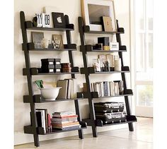 Furniture row bedroom sets ladder entertainment center shelf crate barrel shelves leaning bookshelf home design ideas Leaning Bookshelf, Leaning Shelf, Ladder Bookshelf, Bookshelf Design, Leaning Ladder, Bookshelf Styling, Ladder Shelf Decor, Bookshelf Decorating, Bookshelf Ideas