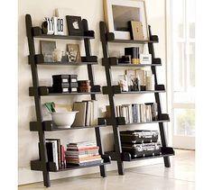 Furniture row bedroom sets ladder entertainment center shelf crate barrel shelves leaning bookshelf home design ideas Leaning Bookshelf, Leaning Shelf, Ladder Bookshelf, Bookshelf Design, Leaning Ladder, Bookshelf Styling, Ladder Shelf Decor, Wall Bookshelves, Bookcases