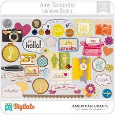 Amy Tangerine Digital Element Pack