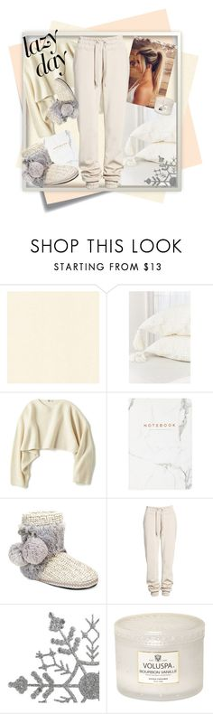 """LAZY DAY"" by charlieseven ❤ liked on Polyvore featuring Post-It, Urban Outfitters, Uniqlo, Eccolo, Muk Luks, Ivy Park and Voluspa"