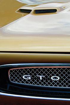 1967 Pontiac Gto Grille Emblem - Car photographs  by Jill Reger