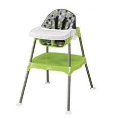 6d6c4f9024f4 10. Evenflo Dottie Lime Convertible High Chair Toddler High Chair