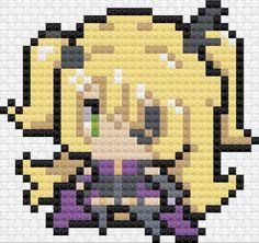 Pony Bead Patterns, Cross Stitch Patterns, Fuse Beads, Perler Beads, Pixel Art Grid, Anime Pixel Art, Grid Design, Dmc Floss, Le Point