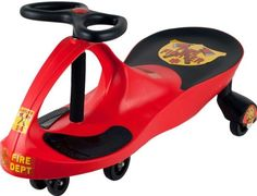 Lil' RiderT Red Rescue Firefighter Wiggle Ride-on Car