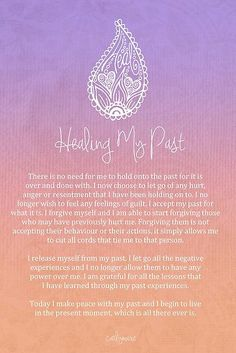 Affirmation - Healing My Past by CarlyMarie