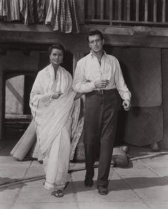 Rock Hudson (Winnetka, Illinois, 17 de noviembre de 1925 - Beverly Hills, California, 2 de octubre de 1985) Con Ursula Thiess en Rifles de Bengala (Bengal Brigade) (1954)