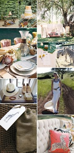 Recreate a safari experience without having to bring your wedding to Africa.