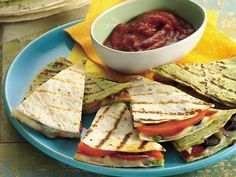 Healthified Grilled Pizza Quesadillas