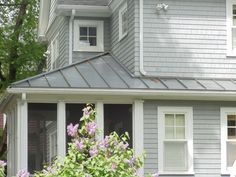White house with green metal roof google search for the home pinterest metal roof white - Metal exterior paint model ...