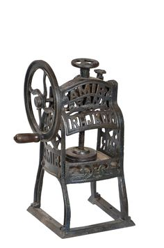 Shaved ice machine from the early 19th Century, known as an Amir Brand Rajkot Ice Gola