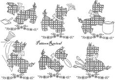 Tea Towel Embroidery 2704 Scotty Dog Cross by PatternRevival