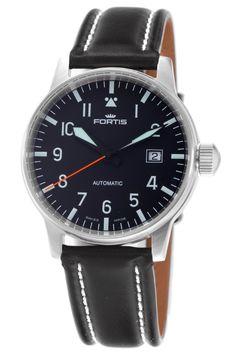 Fortis Men's 595.11.41L Flieger Automatic Black Dial Watch