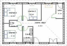 1000 images about plans maisons on pinterest small - Plan maison plain pied 1 chambre ...