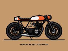 Dribbble - Xs 650 Cafe Racer by Nick Slater