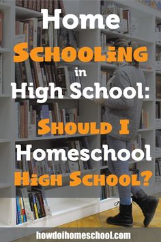#Homeschooling in High School: Should I Homeschool in High School? Find out answers to these questions and more by clicking on the image. #highschool
