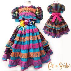 Junina Multi Color Cor e Sonho #fantasias #junina #coresonho #festajunina #arraiá #caipira