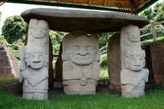 Lots of stone carvings like this. The guide told me they dated from 400 BC to about 600 AD. Latin America, South America, Places To Travel, Places To Visit, Stone Carving, Places Ive Been, Garden Sculpture, Cool Stuff, Outdoor Decor