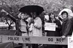 Sylvia Rey Rivera (far left), Marsha P. Johnson, and Barbara Deming, Street Transvestite Action Revolutionaries (S.) and Gay Activists Alliance (GAA) demonstration in favor of Intro City. Sylvia Rivera, Gay Rights Movement, Stonewall Riots, Gender Nonconforming, Lgbt News, Lgbt Rights, Transgender People, Couples In Love, Call Her