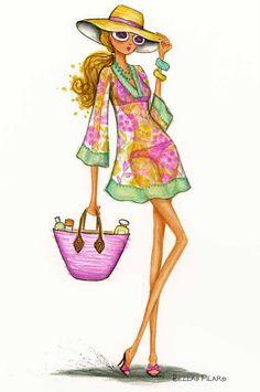 Illustration by Bella Pilar Art And Illustration, Foto Fashion, Fashion Art, Italy Fashion, Fashion Design, Modelos Fashion, Fashion Sketches, Fashion Illustrations, Floral Illustrations