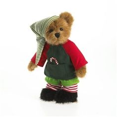 "Elfie Kringlebeary Teddy Bear Boyds Bears 8"""