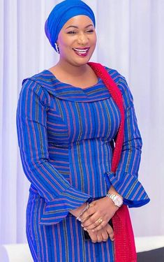 Samira Bawumia wearing a batakari dress