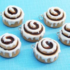 Cinnamon Roll Charm Polymer Clay Jewelry. $8.00, via Etsy.