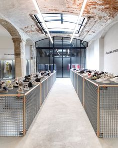 Extremely happy how this latest Paris Showroom set up came out. Extremely happy how this latest Paris Showroom set up came out. Design and executio Shoe Store Design, Retail Store Design, Retail Shop, Commercial Design, Commercial Interiors, Boutique, Store Interiors, Retail Interior, Retail Space