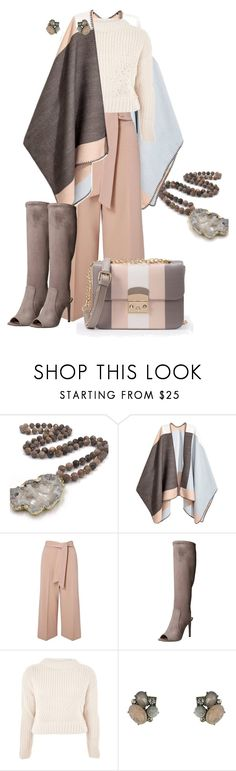 """Untitled #2398"" by hope-houston ❤ liked on Polyvore featuring H&M, Miss Selfridge, Nine West, Topshop and WithChic"