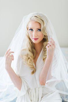 #Gorgeous #Bride getting ready for wedding. #beautiful #blonde #makeup #wedding #love #bridal #curlyhair #hair