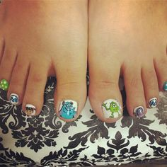 Nail art Monsters inc.
