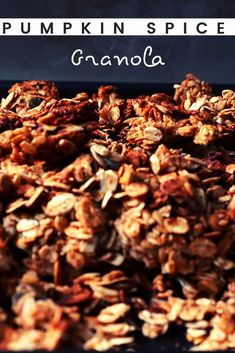 This is, actually, my year-round go-to granola recipe! But, come October, I go full pumpkin spice mode! Then, when spring comes, I go back to just cinnamon! Add it to Greek yogurt and drizzle a bit of honey, and you'll have the perfect snack! #homemadegranola #pumpkinspice #vegetariansnacks How To Make Pumpkin, Vegetarian Snacks, Greek Yogurt, Beets, Granola, Pumpkin Spice, Cinnamon, Spices, Easy Meals