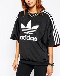 Image 3 - Adidas Originals X Rita Ora - Top manches kimono à 3 bandes et imprimé trèfle
