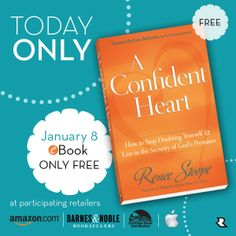 Don't let doubt, worry or fear of failure hold you back in 2014! Grab a copy of my #FREE A Confident Heart by Renee Swope E-BOOK at participating retailers. {Today Jan 8th ONLY} Find links here: http://reneeswope.com/2014/01/free-ebook-today-only/