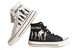 3e5872f20d258d One Piece Anime Luffy Cosplay Shoes Canvas Shoes Sneakers Hand-painted  Shoes Black and White