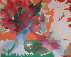 24 x 30 Original Acrylic Painting on Canvas - Tree at Sunset. via Etsy.