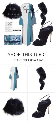"""""""Untitled #941"""" by sugarmoonmama ❤ liked on Polyvore featuring Christian Siriano, Charlotte Simone, Yves Salomon, Casadei and Anja"""