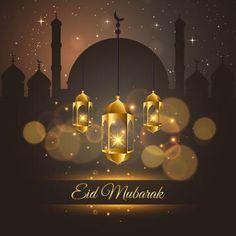 Islamic Ramadan Kareem And Eid Mubarak Card Illustration PNG and Vector Eid Al Adha Greetings, Eid Mubarak Greeting Cards, Eid Cards, Eid Mubarak Images, Eid Mubarak Wishes, Adha Mubarak, Eid Mubarak Quotes, Ramadan Wishes, Happy Eid Mubarak