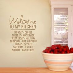 Sweetums Welcome To My Kitchen Wall Decal 18-inch wide x 24-inch tall