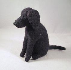 Nadel Gefilzte Animal  schwarz Lab Sammler Hund von FlomopStudio, $32.00