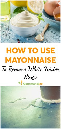 You forget to slip a coaster under your glass, and before you know it the moisture has left a horrible mark on your table... But don't worry! All you need to fix it is a jar of mayo. #mayonnaise #kitchenhacks #kitchentricks #kitchentips #homeanddiy #waterrings #howto