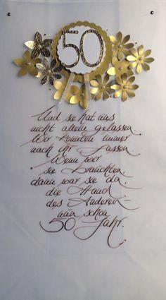 Eine Lichttüte zur Goldenen Hochzeit