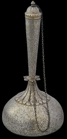Chased & Parcel Gilded Silver Water Flask (Surahi) Lucknow, India circa 1880 Inventory no.: 1294