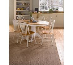Details about DUCAL Solid Wood Extendable Oval Dining Table with 4