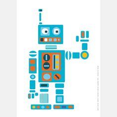 PaaPii Design - Juliste A3 Robotti
