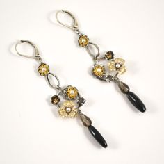 Stunning Flower Drop Earrings by Eric et Lydie