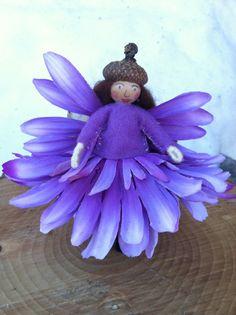 Purple flower fairy by LightofdayCreations on Etsy