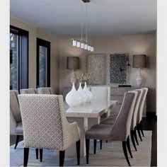 A dining room decor to make your guests feel envy! Grab the best dining room decor ideas to make your dining room design be the best when it comes to modern dining rooms designs. A best of when it comes to interior design ideas. Modern Dining Room Lighting, Contemporary Dining Room Sets, Luxury Dining Room, Elegant Dining Room, Beautiful Dining Rooms, Dining Room Design, Modern Room, Dining Room Chairs, Dining Room Furniture