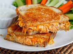 Buffalo chicken grilled cheese sandwich!